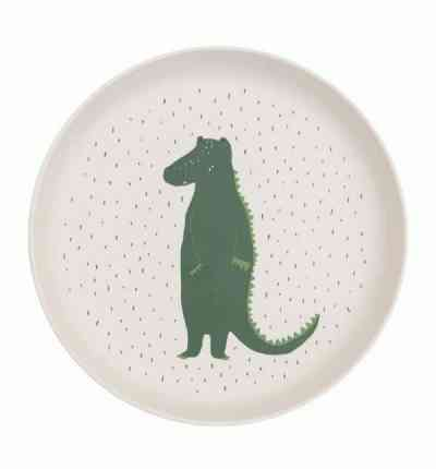 plato biodegradable infantil cocodrilo