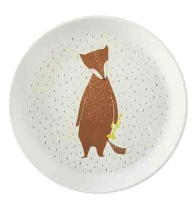 plato biodegradable infantil zorro