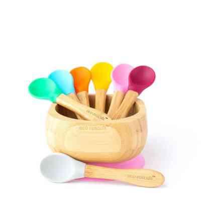 colorido cucharas de aprendizaje