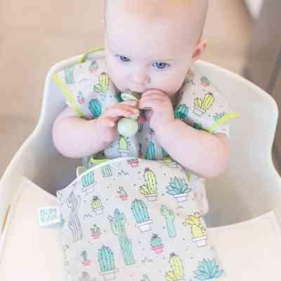 Babero blw bebés seis meses
