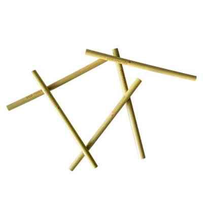 Pajitas reutilizables de bambú orgánico