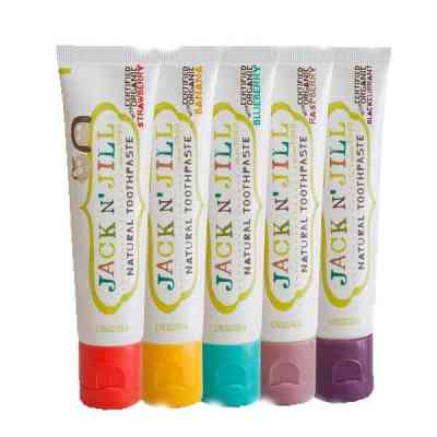 Pastas de dientes infantiles naturales y certificadas