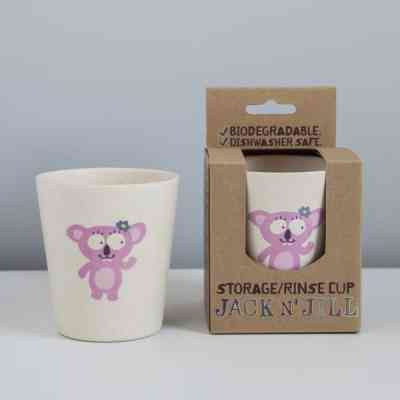 Vaso biodegradable para beber o higiene bucal infantil koala