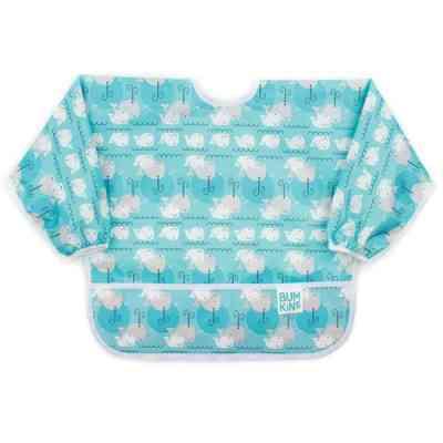 Babero con mangas y bolsillo perfecto para la alimentación complementaria en bolsilla