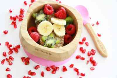 Los alimentos saben mejor en este bol de bambú orgánico biodegradable