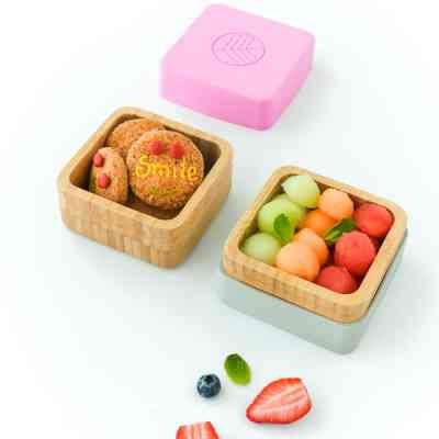 Ejemplos de comidas que llevar en estas cajas porta snacks