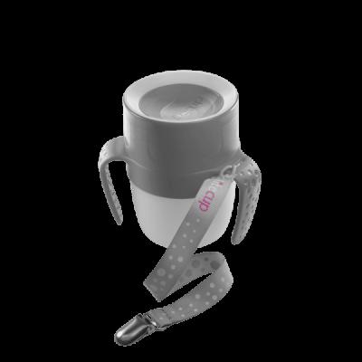 Vaso antigoteo con válvula para la succión y luz que favorece su autonomía