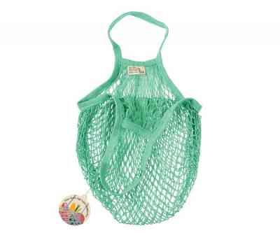 Bolsa Zero Waste multiusos de algodón orgánico en color turquesa
