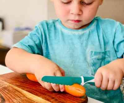 Lifestyle cuchillo infantil de aprendizaje y autonomía verde